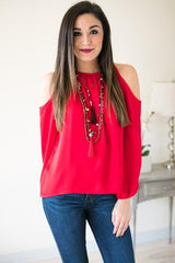 Fall Game Day Cold Shoulder Top