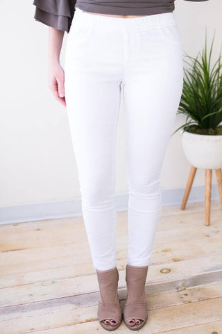 Claim to Fame White Jeggings