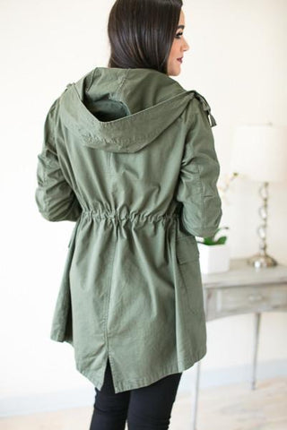 Closed Road Olive Utility Jacket
