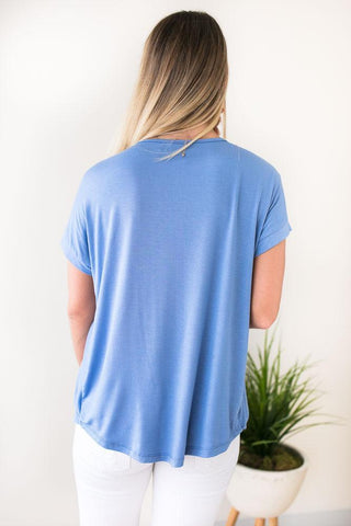 Swish Cross Front Sky Blue Top