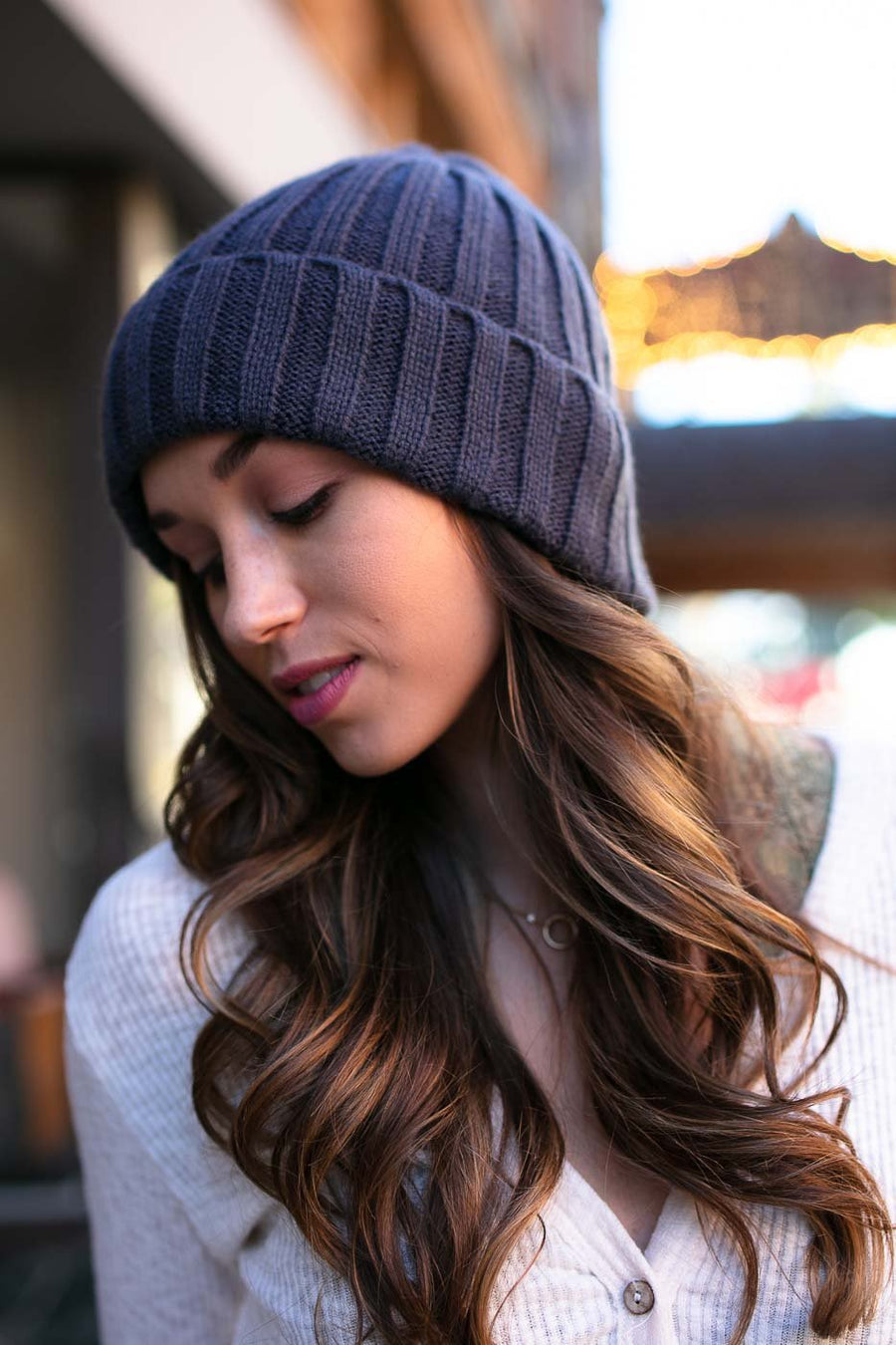 Accessories Winter is Coming Navy Cable Knit Beanie - Lotus Boutique