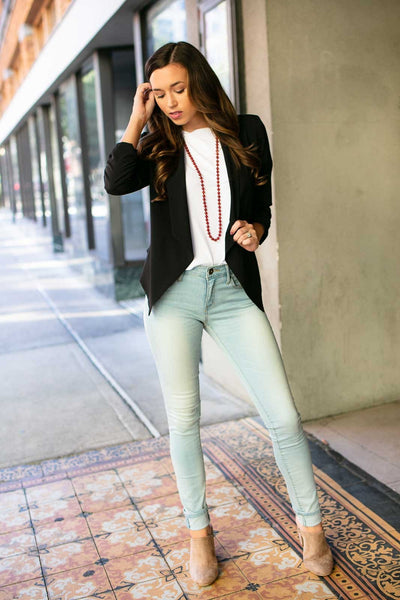 Tops Keep Looking Up Black Blazer - Lotus Boutique