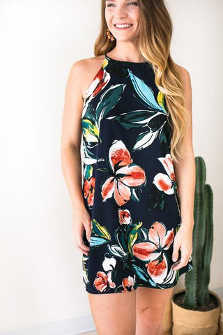 Nothing To Lose Navy Floral Dress