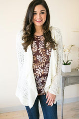 Fade Away Ivory Knit Cardigan