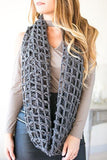 More Fish in the Sea Net Scarf - Grey
