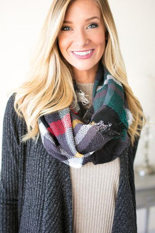 Season's Best Plaid Infinity Scarf