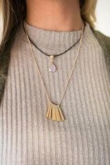 Rain Drop Stone Layered Necklace