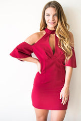 Must Have Cut Out Red Party Dress