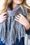 Grey Street Long Fringe Scarf-Accessories-Lotus Boutique-Lotus Boutique