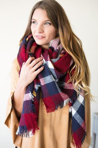 Call This Tartan Plaid Blanket Scarf