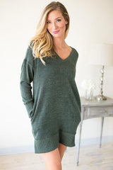 Swaying Pines Sweater Dress with Pockets