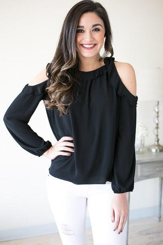 How Sweet It Is Cold Shoulder Top