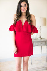 Under the Mistletoe Off Shoulder Party Dress