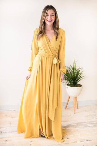 Don't Hold Back Golden Yellow Maxi Dress