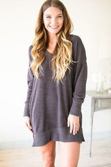 Sidewalks Sweater Dress with Pockets - Coco