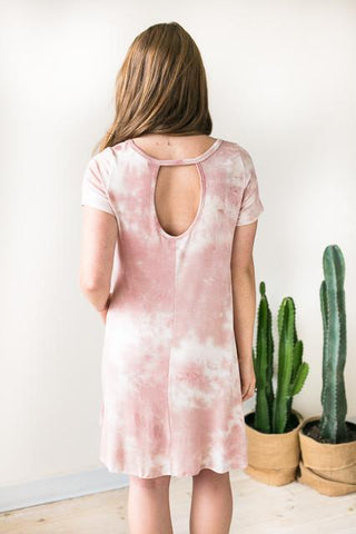 Pink Lullaby Tie Dye Dress with Pockets