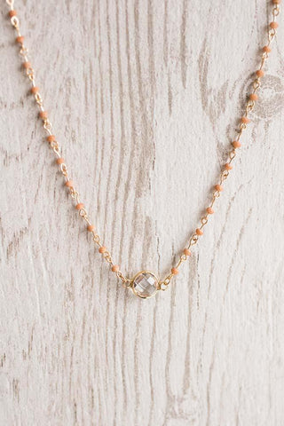 Bee's Knees Clear Stone Necklace