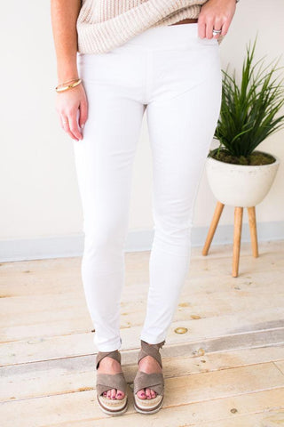 All Star White Legging Pants