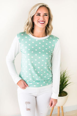 First Choice Polka Dot Pullover
