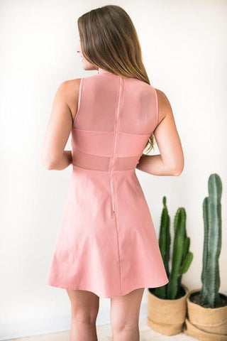 Long Live Love Blush Fit And Flare Dress