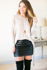 Spot Illusions Black Pleather Skirt