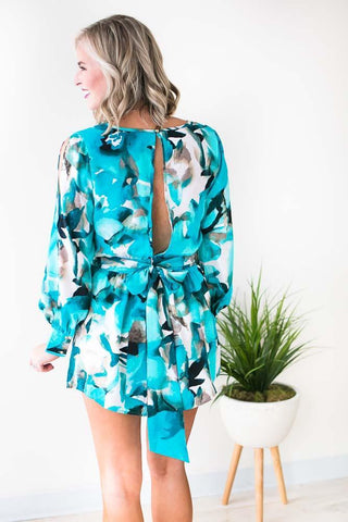 Check Me Out Watercolor Romper