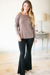 Day and Night Black Bell Bottom Pants
