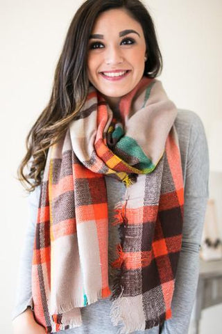 Come Together Plaid Scarf