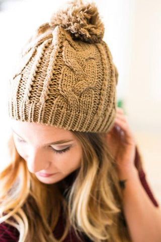 Pursuit of Happiness Knit Beanie - Mocha
