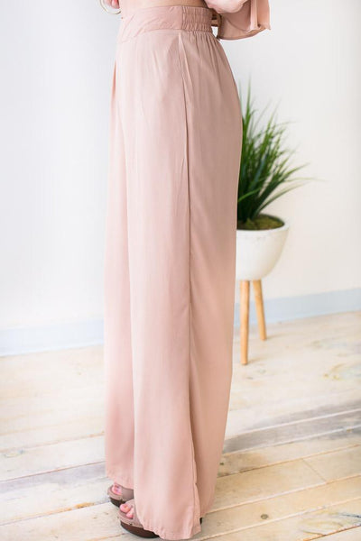 Bottoms Sweet Honey Chic Wide Leg Pants - Lotus Boutique