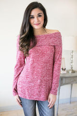 Think Twice Soft Off the Shoulder Tunic