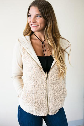 All For You Fur Zip Up Jacket
