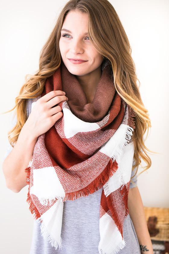 Leaves Turning Blanket Scarf -Accessories-Lotus Boutique-Lotus Boutique