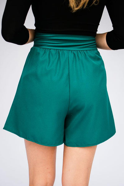 Bottoms Something Real Aqua High Waist Shorts - Lotus Boutique