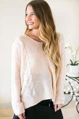 I'm So Peachy Back Detail Sweater