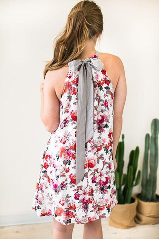 Urban Garden Floral Halter Dress