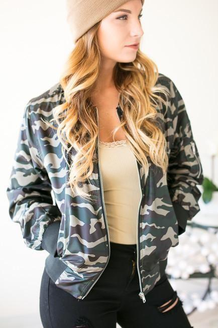 In The Woods Camo Bomber Jacket