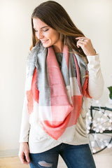 Sunset Skies Color Block Blanket Scarf