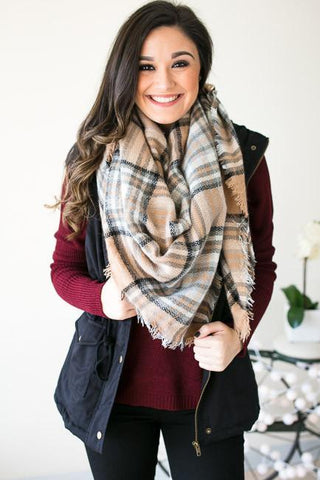 Smile Like You Mean It Plaid Scarf