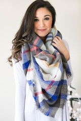 City In the Stars Plaid Blanket Scarf