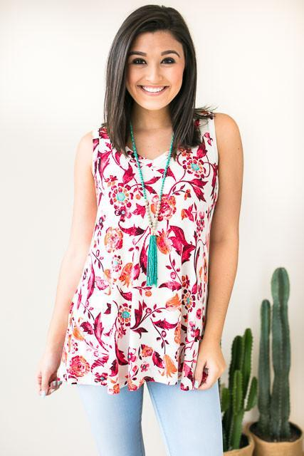 Floral Moves Soft Sleeveless Top