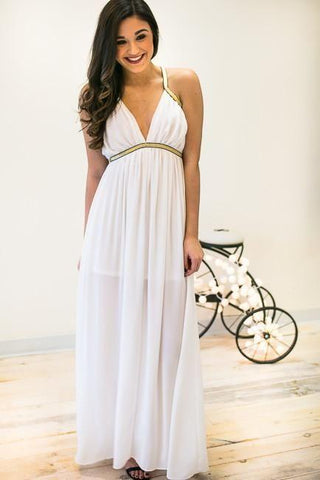 Goddess Of The Party White Formal Dress
