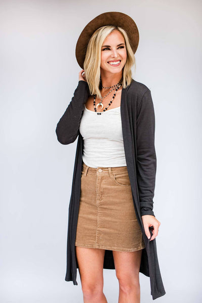 Charcoal Light Weight Cardigan