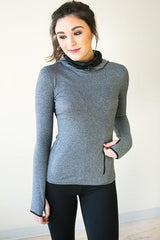 Running in the Cold Grey Athletic Pullover
