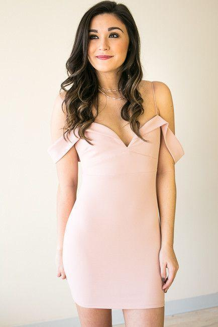Reaching Perfection Blush Bodycon Dress