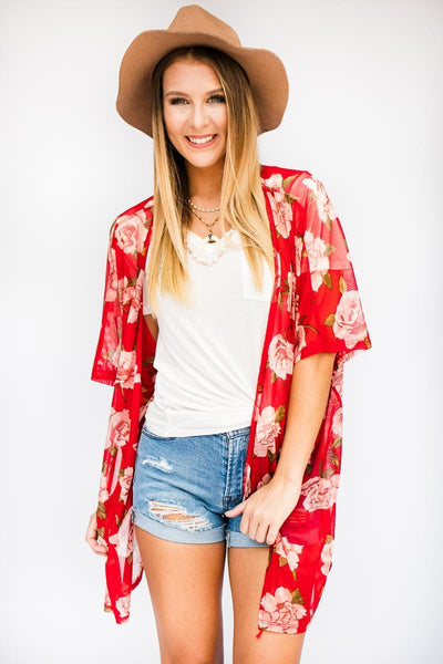 My Heart Is Happy Floral Kimono