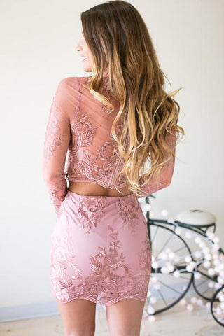 Love Sick Mauve Floral Lace Set
