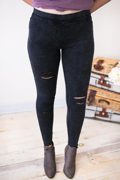 In The Raw Distressed Jegging-Bottoms-Lotus Boutique-Lotus Boutique
