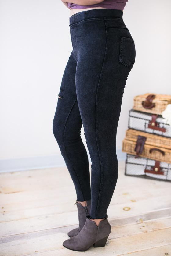 7a88c545bdbb0d In The Raw Distressed Jegging-Bottoms-Lotus Boutique-Lotus Boutique