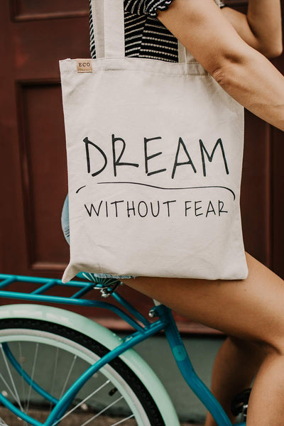 Accessories Dream Without Fear Canvas Tote - Lotus Boutique